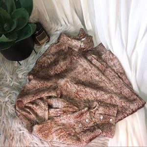Animal Print Button Down - A New Day